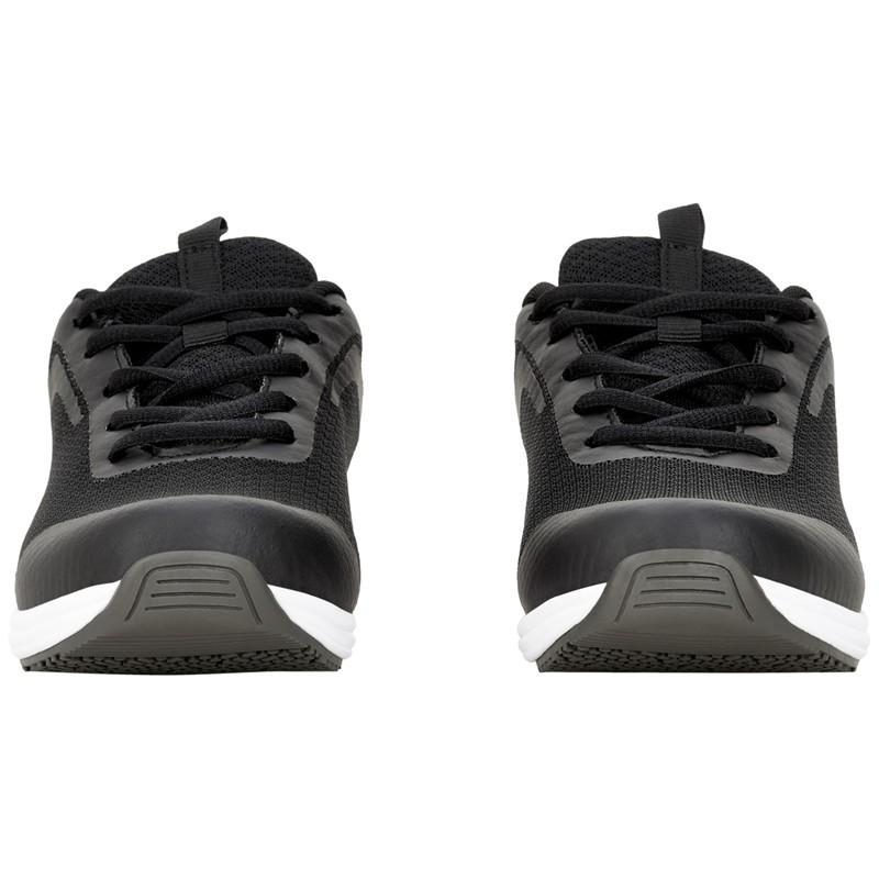 Baskets de Sécurité Rider Noir Semelle Blanche Sanita détail chaussures médicales