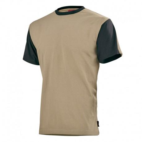 Tee shirt de travail respirant beige et noir pour les professionnels en extérieur