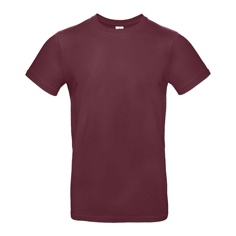 Tee-shirt de Travail Coton Homme Bordeaux - TOPTEX 100% Coton