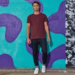 Tee-shirt de Travail Coton Homme Bordeaux - TOPTEX Lavable à 40°C en machine