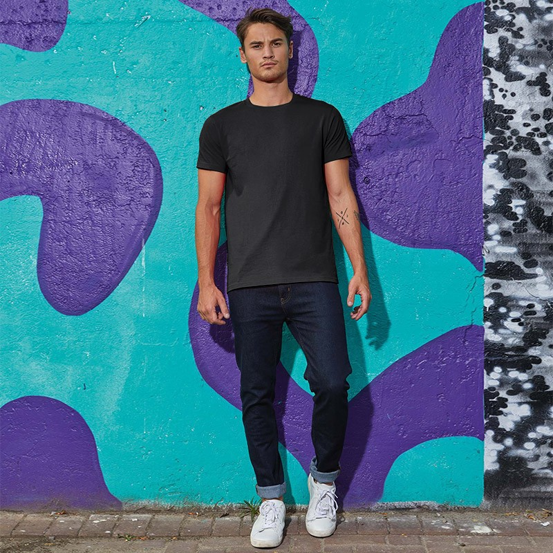Tee-shirt de Travail Coton Homme Noir - TOPTEX Manches courtes