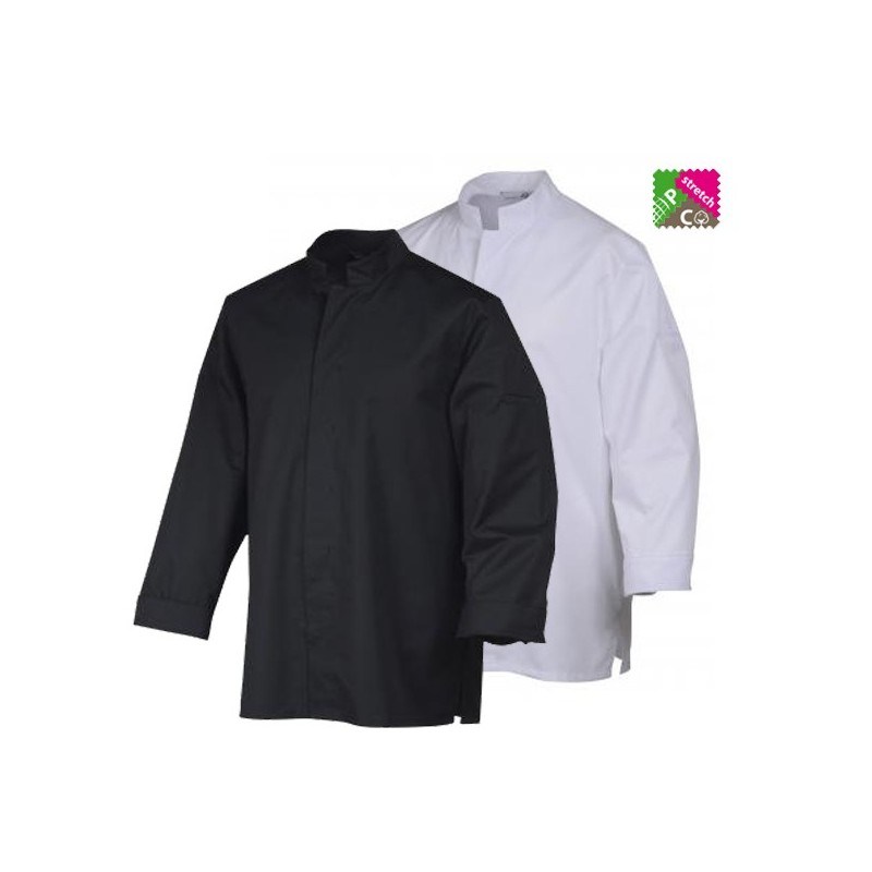 Veste de cuisine robur stani blanc ou noir Veste de cuisine orange