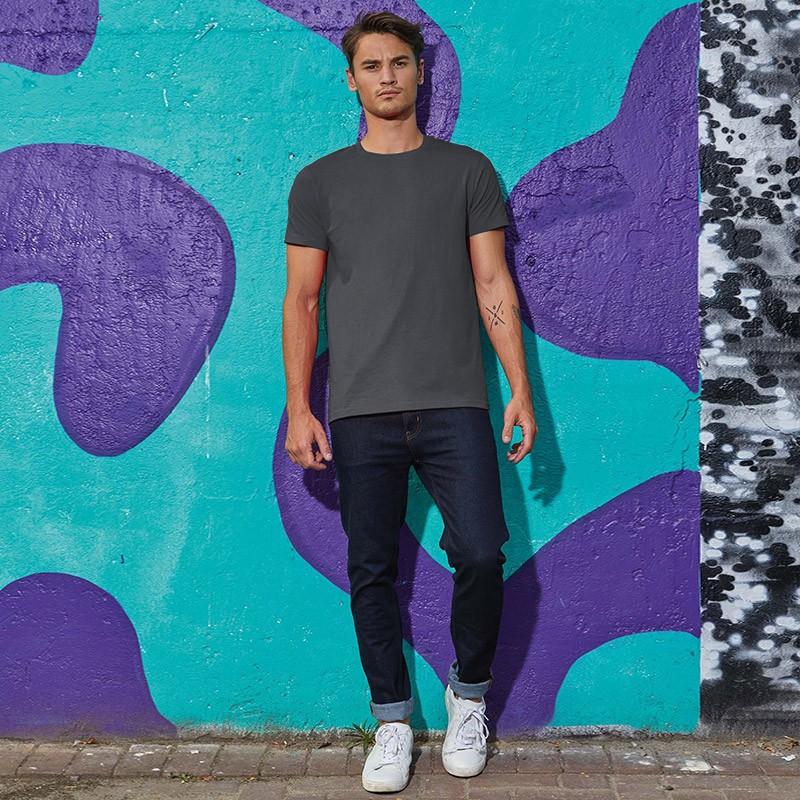 Tee-shirt de Travail Coton Homme Gris Foncé - TOPTEX Manches Courtes