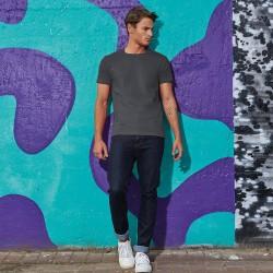 Tee-shirt de Travail Coton Homme Gris Foncé - TOPTEX Lavable à 40°C en machine