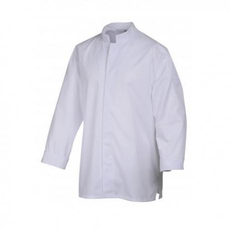 Veste de cuisine Stani, blanche, bouton à attacher, facile d'entretien