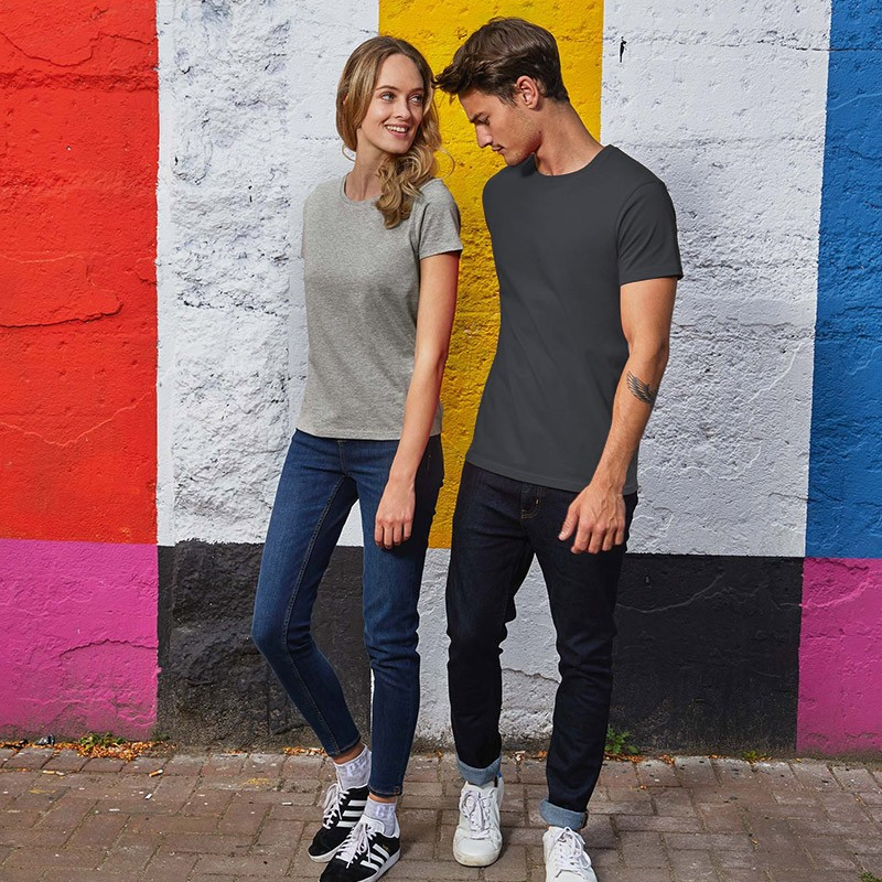 Tee-shirt de Travail Coton Homme Gris Foncé - TOPTEX Tailles : S au 4XL