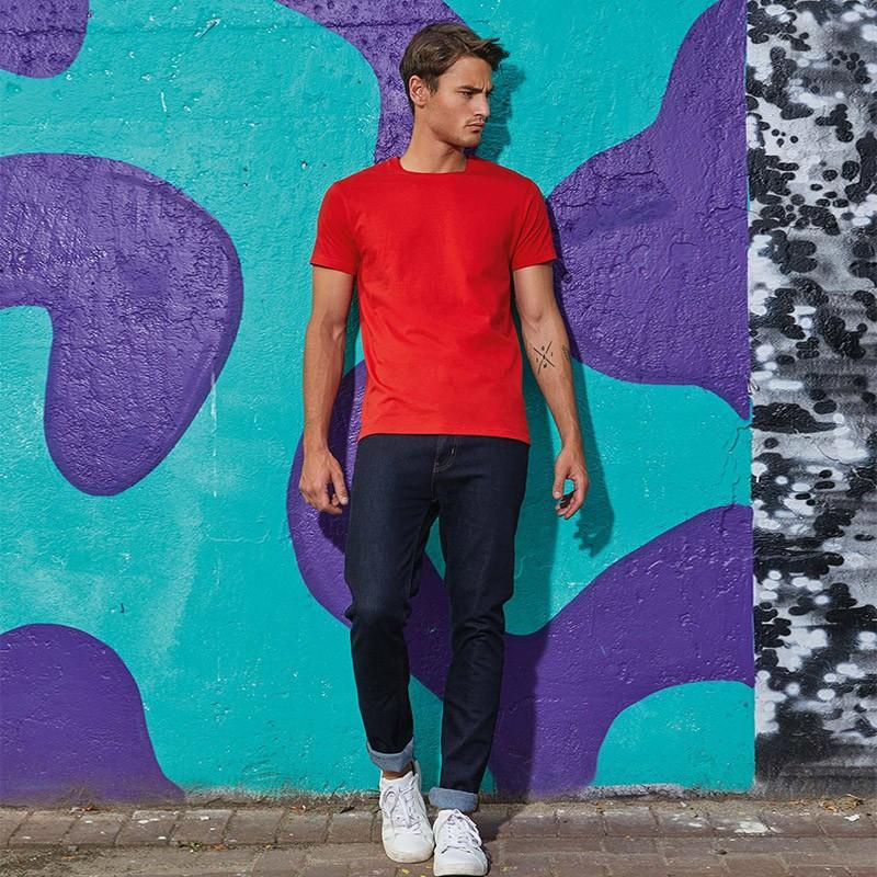 beb54a0c9 Tee-shirt de Travail Coton Homme Rouge - TOPTEX