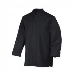 Veste de cuisine Stani, pour cuisinier couleur noire avec manche longue