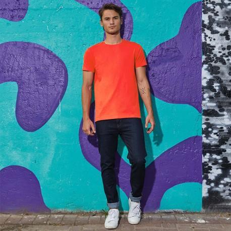 Tee-shirt de Travail Coton Homme Orange Sunset - TOPTEX Manches courtes
