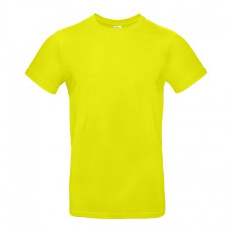 Tee-shirt de Travail Coton Homme Vert Lime - TOPTEX 100% Coton
