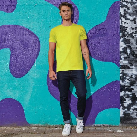 Tee-shirt de Travail Coton Homme Vert Lime - TOPTEX Manches courtes