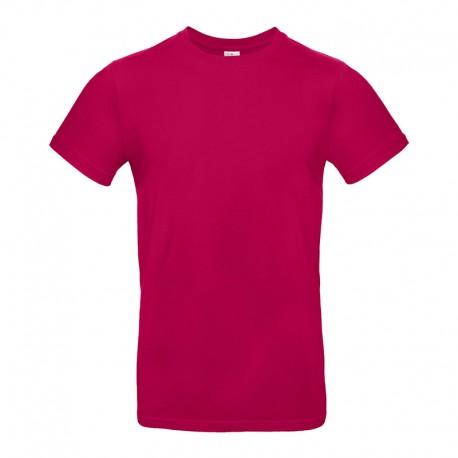 Tee-shirt de Travail Coton Homme Rose Fushia - TOPTEX 100% Coton