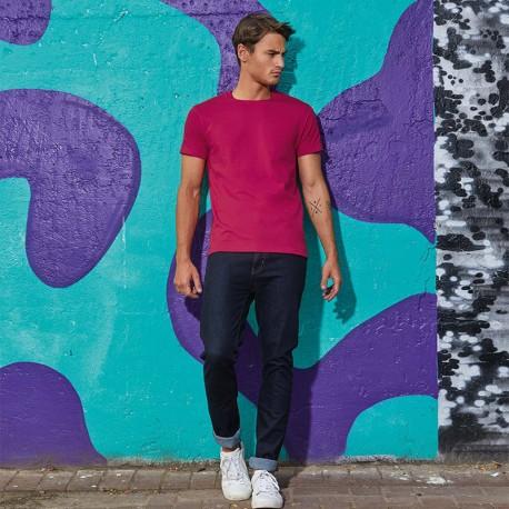Tee-shirt de Travail Coton Homme Rose Fushia - TOPTEX Manches courtes