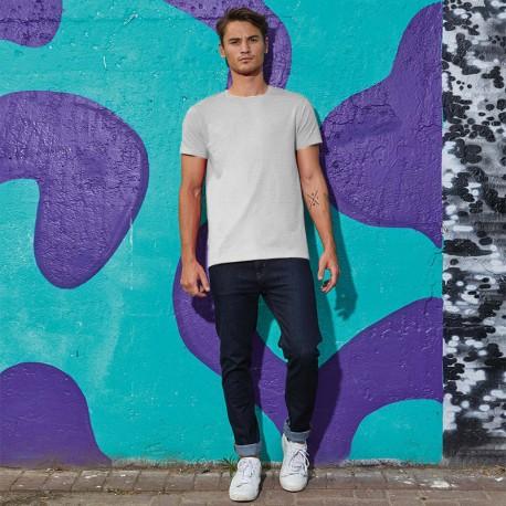 Tee-shirt de Travail Coton Homme Gris Chiné - TOPTEX Manches courtes