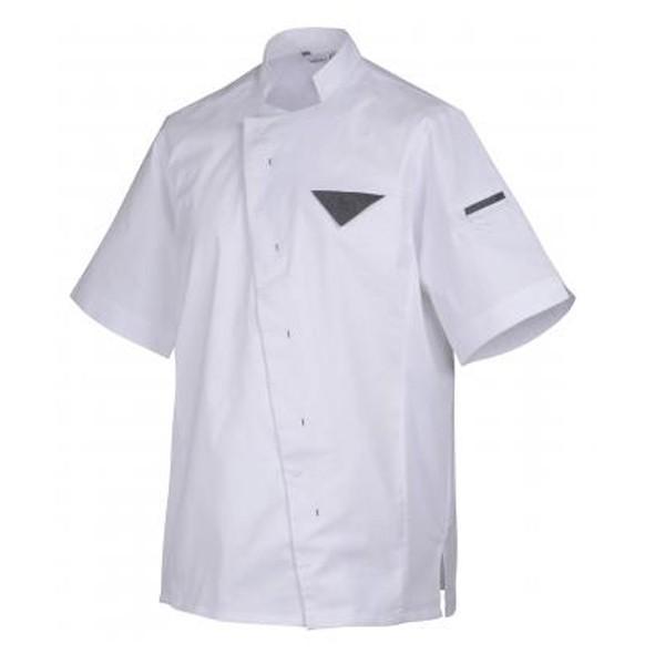Veste de cuisine Robur Sedim, bouton pression asymétrique coupe originale, qualité robur