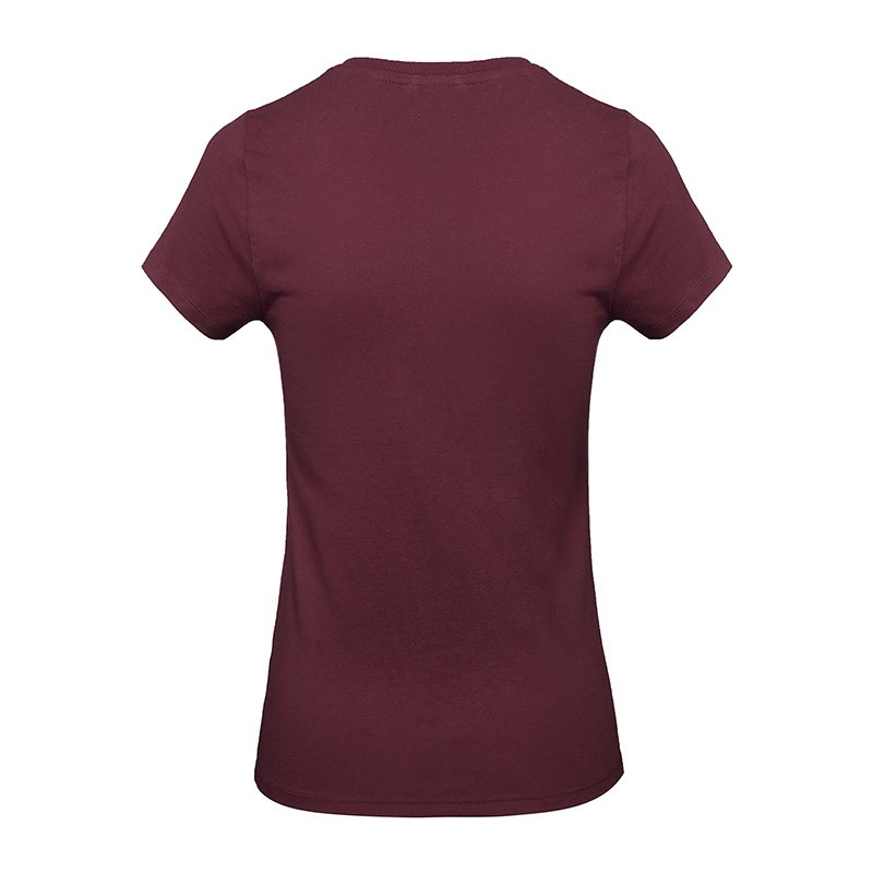 Tee-shirt de Travail Coton Femme Bordeaux - TOPTEX Oeko-Tex 100