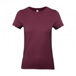 Tee-shirt de Travail Coton Femme Bordeaux - TOPTEX 100% Coton