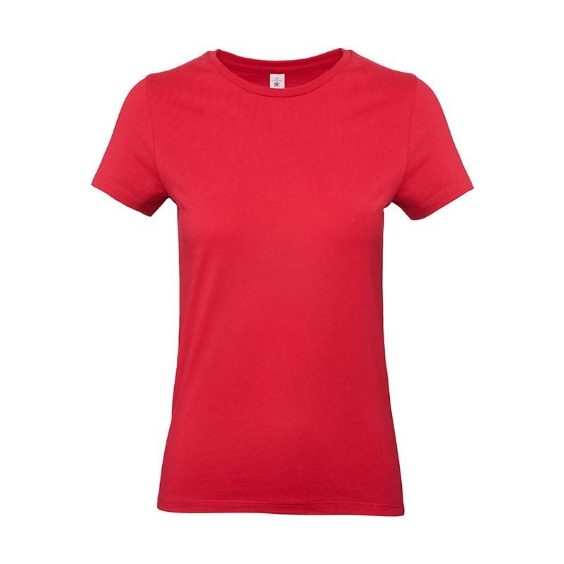 Tee-shirt de Travail Coton Femme Rouge - TOPTEX 100% coton