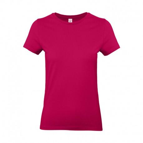 Tee-shirt de Travail Coton Femme Rose Fushia - TOPTEX 100% Coton