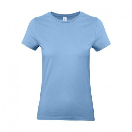Tee-shirt de Travail Coton Femme Bleu Ciel - TOPTEX 100% Coton