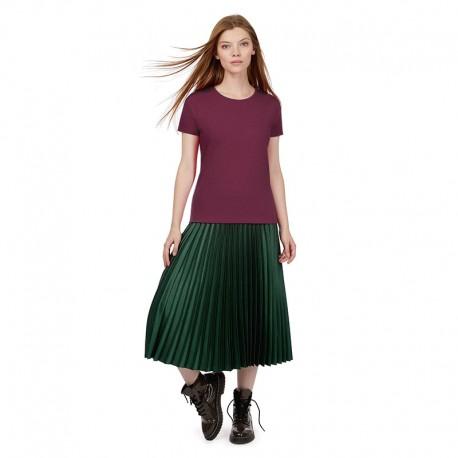 Tee-shirt de Travail Coton Femme Bordeaux - TOPTEX Manches courtes