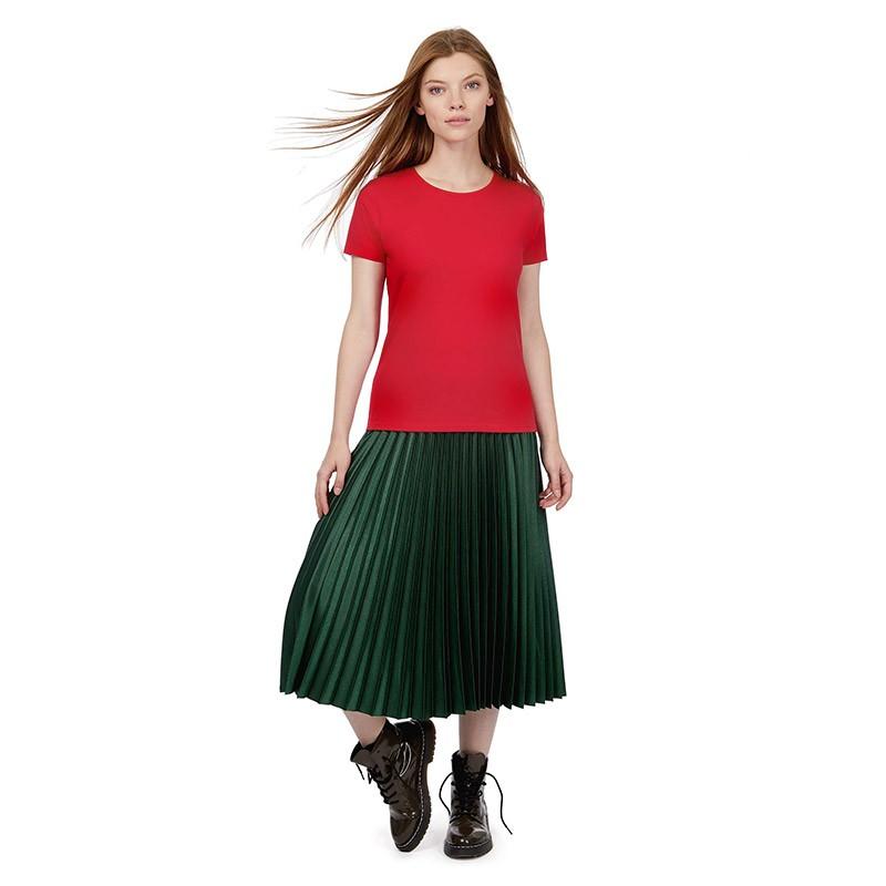 Tee-shirt de Travail Coton Femme Rouge - TOPTEX manches courtes