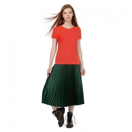 Tee-shirt de Travail Coton Femme Orange Sunset - TOPTEX manches courtes