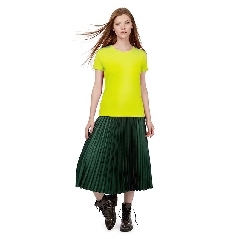 Tee-shirt de Travail Coton Femme Vert Lime - TOPTEX manches courtes