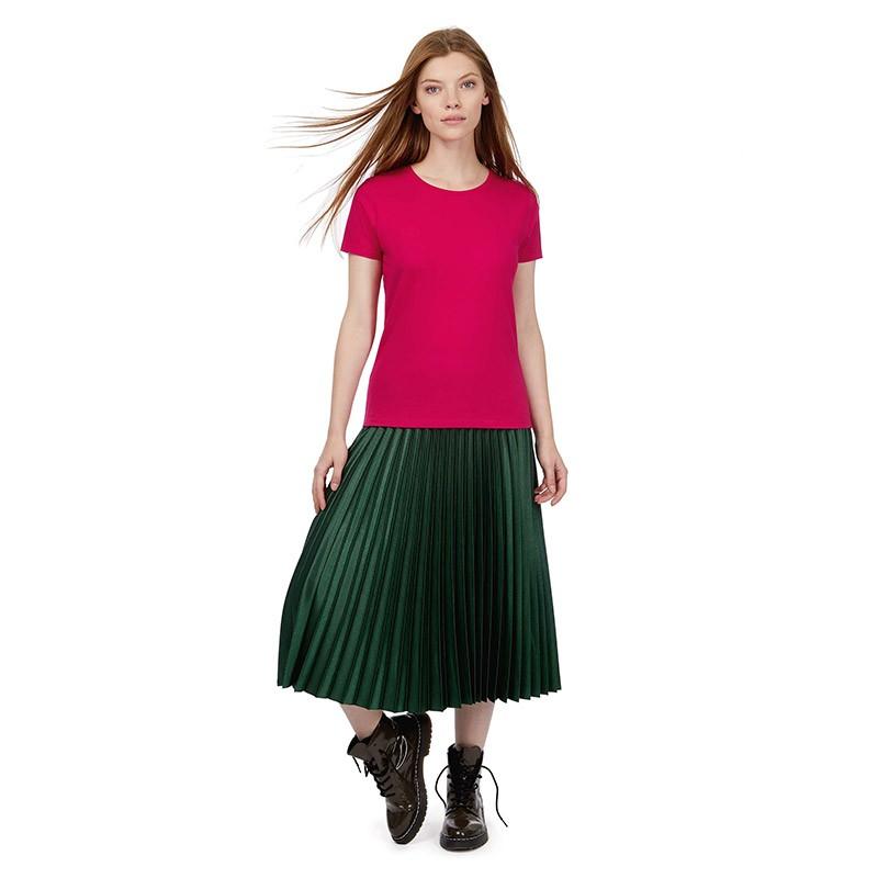 Tee-shirt de Travail Coton Femme Rose Fushia - TOPTEX Manches courtes