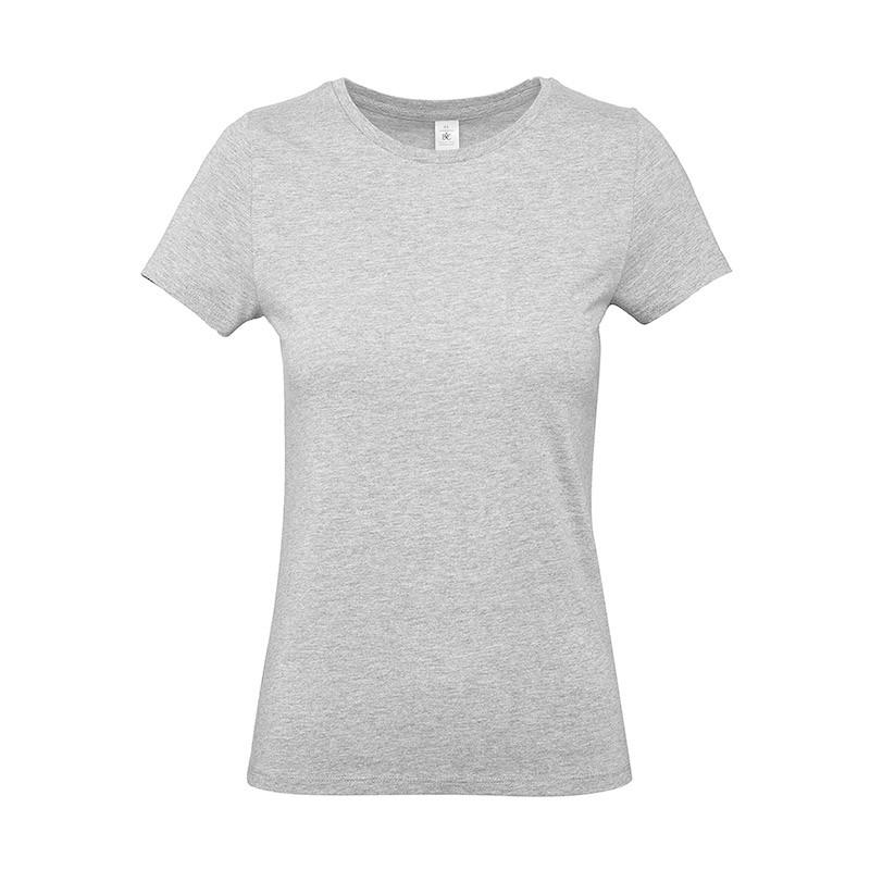 Tee-shirt de Travail Coton Femme Gris Chiné - TOPTEX 100% Coton