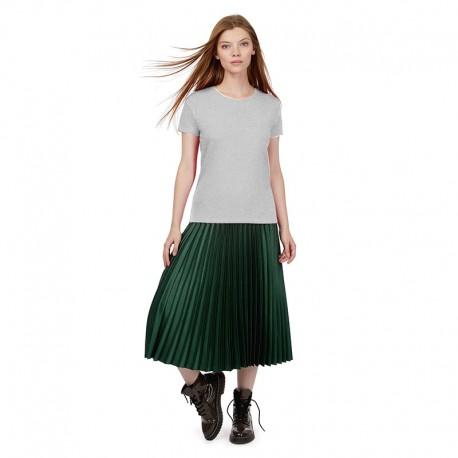 Tee-shirt de Travail Coton Femme Gris Chiné - TOPTEX Manches courtes