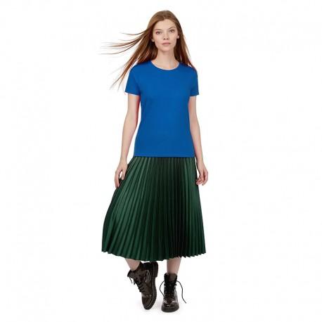 Tee-shirt de Travail Coton Femme Bleu Royal - TOPTEX Manches courtes