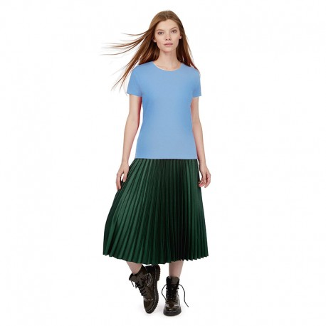 Tee-shirt de Travail Coton Femme Bleu Ciel - TOPTEX Manches courtes