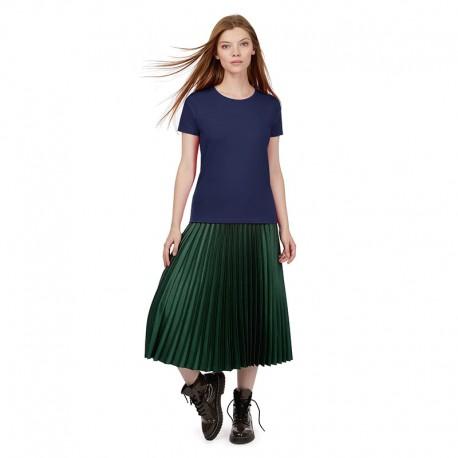 Tee-shirt de Travail Coton Femme Bleu Marine - TOPTEX Manches courtes