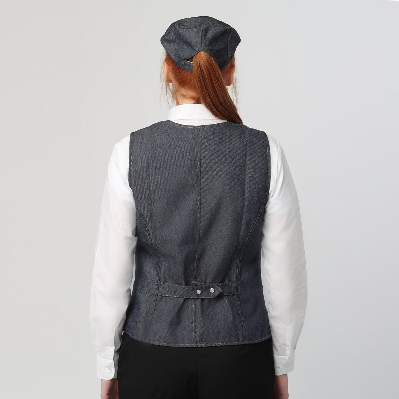 Gilet De Service Jean Denim Femme - MANELLI  lavable 40° en machine