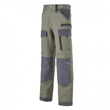 Pantalon Multipoches Protection Genoux Kaki ADOLPHE LAFONT