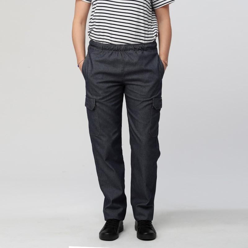 Pantalon Jean Cuisine Femme - MANELLI 2 poches côté devant