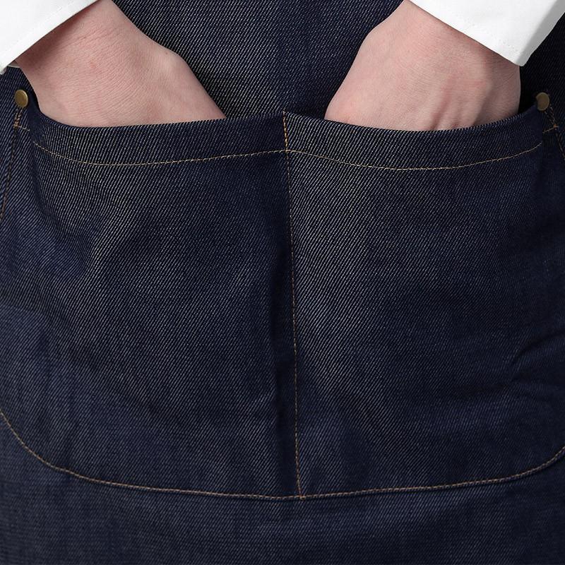 Tablier Bavette Jean - MANELLI grande double poche centrée