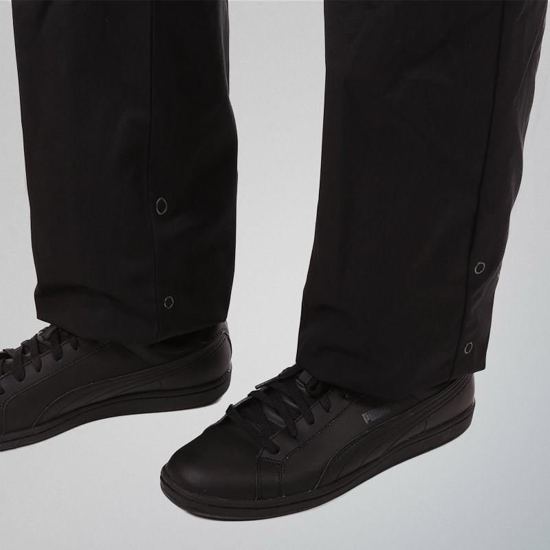 Pantalon de Cuisine Réglable Noir réglage par boutons pressions aux chevilles