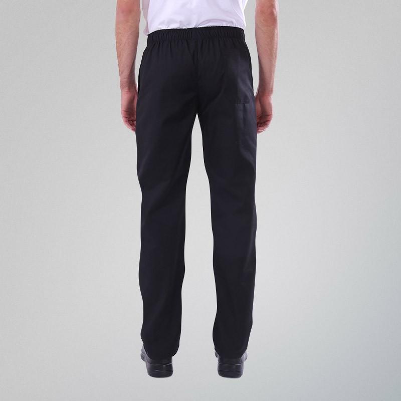 Pantalon de Cuisine Noir Grande Taille mixte homme