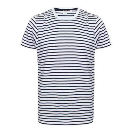 Tee-shirt de Travail Manches Courtes Marinière - TOPTEX - 100% coton