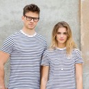 Tee-shirt de Travail Manches Courtes Marinière - TOPTEX - Mixte