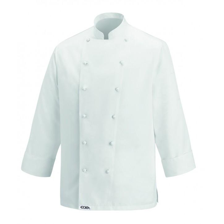 Veste de Cuisine Prestige Handmade, blanche, excellente qualité, tissu haut de gamme
