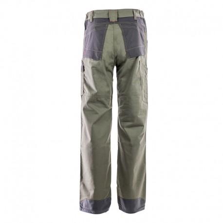 Pantalon Multipoches Protection Genoux Kaki ADOLPHE LAFONT vue de dos