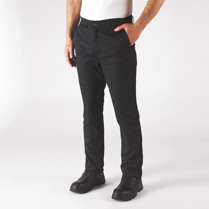 Pantalon de Cuisine Blino Noir - ROBUR - 2 poches italiennes devant