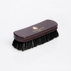 Brosse À Reluire Luxe 18 cm Poils Noirs - FAMACO - véritable crin de cheval