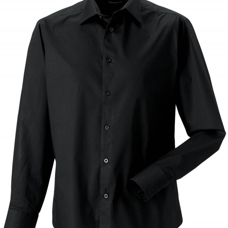 Chemise service homme noire