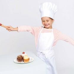 Tablier de Cuisine Enfant - TOPTEX - blanc