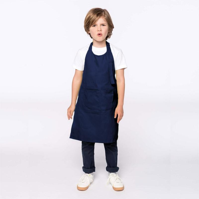 Tablier de Cuisine Enfant - TOPTEX - bleu marine