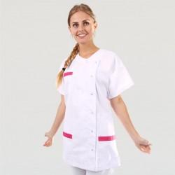 Blouse Medicale Asymétrique poches - MANELLI - Rose